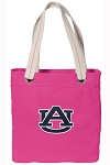 Auburn Tote Bag RICH COTTON CANVAS Pink