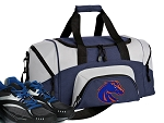 SMALL Boise State University Gym Bag Boise State Broncos Duffle Navy