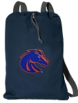 Boise State Cotton Drawstring Bag Backpacks Cool Navy
