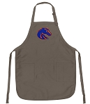 Official Boise State Broncos Logo Apron Tan