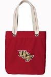 Central Florida Tote Bag RICH COTTON CANVAS Red