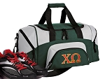 SMALL Chi Omega Gym Bag Chi O Duffle Green
