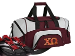 SMALL Chi Omega Gym Bag Chi O Duffle Maroon
