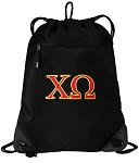 Chi O Drawstring Backpack-MESH & MICROFIBER