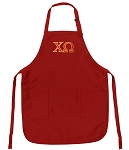 Official Chi Omega Logo Aprons