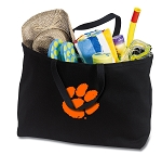 Clemson Jumbo Tote Bag Black