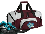 SMALL Tri Delt Gym Bag Tri Delt Sorority Duffle Maroon