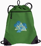 Tri Delt Drawstring Backpack Mesh and Microfiber