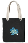 Tri Delt Tote Bag RICH COTTON CANVAS Black