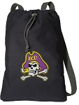 ECU Pirates Cotton Drawstring Bag Backpacks
