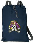 East Carolina Cotton Drawstring Bag Backpacks Cool Navy
