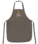 Official ECU Logo Apron Tan