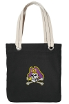 ECU Pirates Tote Bag RICH COTTON CANVAS Black