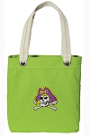 ECU Pirates Tote Bag RICH COTTON CANVAS Green