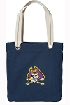 East Carolina Tote Bag RICH COTTON CANVAS Navy