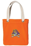 ECU Pirates Tote Bag RICH COTTON CANVAS Orange
