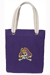 ECU Pirates Tote Bag RICH COTTON CANVAS Purple