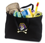 ECU Pirates Jumbo Tote Bag Black