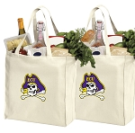 East Carolina University Shopping Bags ECU Grocery Bags 2 PC SET