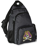 ECU Pirates Backpack Cross Body Style Gray