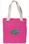 University of Florida Tote Bag RICH COTTON CANVAS Pink