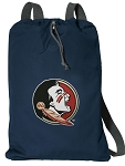 Florida State Cotton Drawstring Bag Backpacks Cool Navy