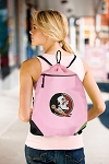 FSU Drawstring Bag Mesh and Microfiber Pink