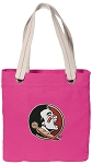 FSU Tote Bag RICH COTTON CANVAS Pink