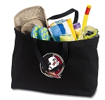 FSU Jumbo Tote Bag Black