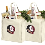 Florida State University Shopping Bags FSU Grocery Bags 2 PC SET
