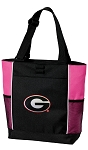 Georgia Bulldogs Neon Pink Tote Bag