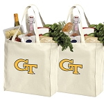 Georgia Tech Shopping Bags Georgia Tech Grocery Bags 2 PC SET