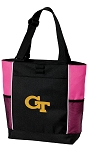 Georgia Tech Neon Pink Tote Bag
