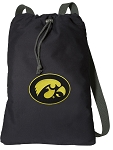University of Iowa Cotton Drawstring Bag Backpacks
