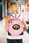 University of Iowa Hawkeyes Drawstring Bag Mesh and Microfiber Pink