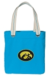 Iowa Hawkeyes Tote Bag RICH COTTON CANVAS Turquoise