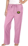 University of Iowa Hawkeyes Pink Scrubs Pants Bottoms