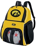 University of Iowa Soccer Ball Backpack or Iowa Hawkeyes Volleyball For Girls or Boys Practice