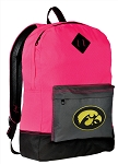 Iowa Hawkeyes Backpack HI VISIBILITY University of Iowa CLASSIC STYLE For Her Girls Women