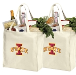 Iowa State Shopping Bags ISU Cyclones Grocery Bags 2 PC SET