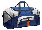 University of Illinois Duffle Bag or Illini Gym Bags Blue