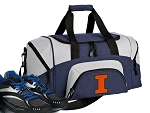 SMALL University of Illinois Gym Bag Illini Duffle Navy
