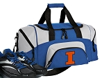 SMALL University of Illinois Gym Bag Illini Duffle Blue