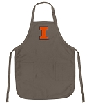 Official Illinois Illini Logo Apron Tan