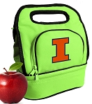 University of Illinois Lunch Bag Green