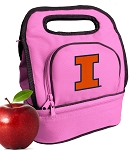 University of Illinois Lunch Bag Pink