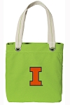 University of Illinois Tote Bag RICH COTTON CANVAS Green