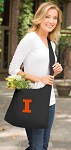 University of Illinois Tote Bag Sling Style Black