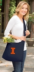 University of Illinois Illini Tote Bag Sling Style Navy