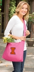University of Illinois Tote Bag Sling Style Pink